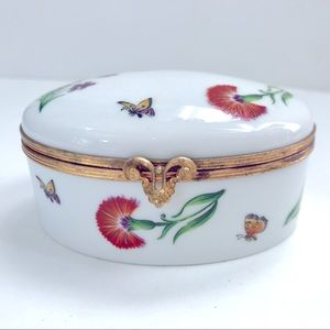 Tiffany & Co Trinket Box Garden Butterfly Floral